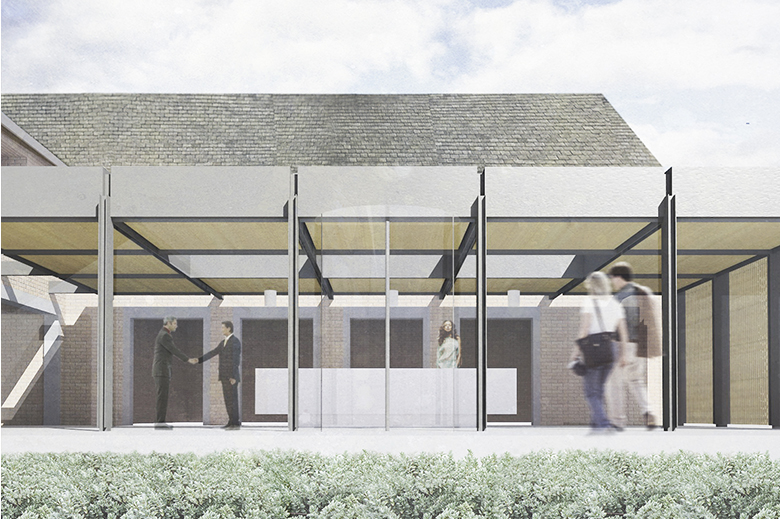 Contemporary Pavilion Reception. Napier Clarke Architects, Marlow, Bucks