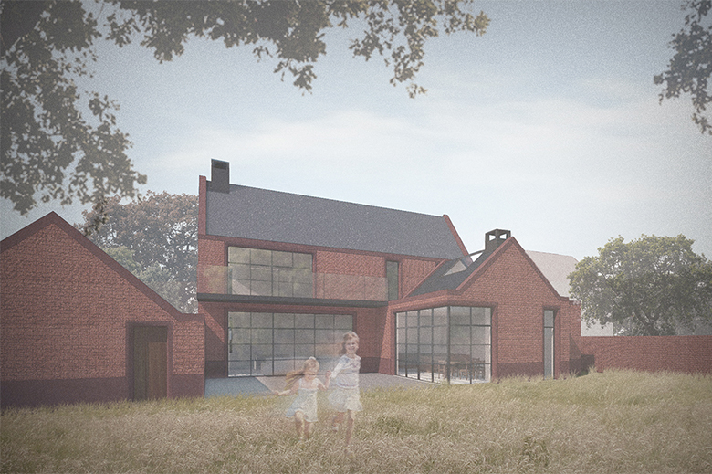 New build house. Napier Clarke - Architects in Marlow