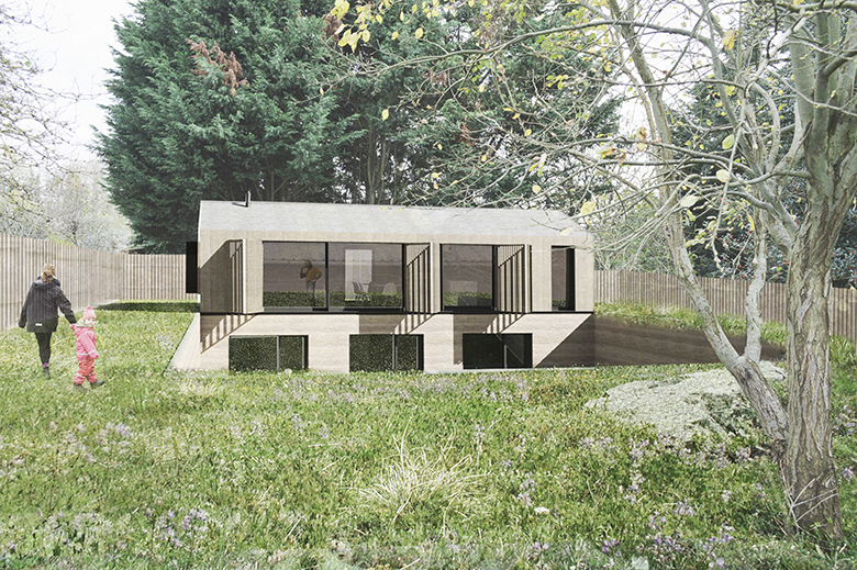 Timber clad house. Napier Clarke - Architects in Buckinghamshire